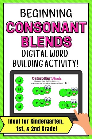 beginning consonant blend activity pin image for the sl blend (1)