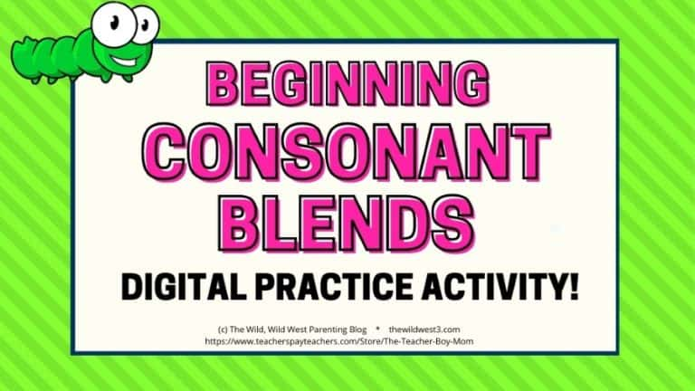 Initial Consonant Blends – An Interactive Digital Phonics Word Building Activity for First Grade