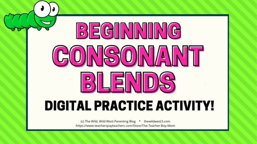 featured image with word building beginning blends activity