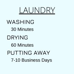 hilarious meme about putting away laundry taking 7 - 10 business days