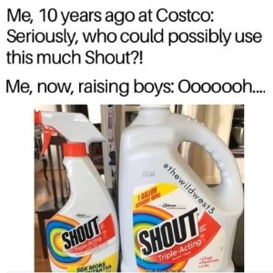funny laundry meme about boys destroying their clothes