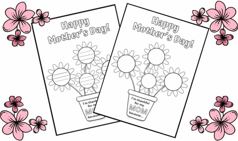 Printable Mother's Day Activity for Kindergarten and Early Elementary Kids