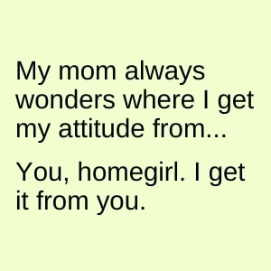 funny meme for mother's day about daughters inheriting their mothers' attitudes