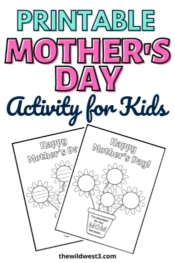 printable mother's day activity for kindergarten text pictured above two copies of the mother's day worksheets