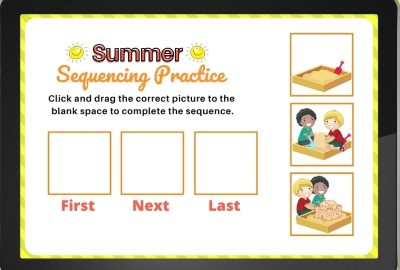 Digital Sequencing Activity for First Grade and Kindergarten on ipad