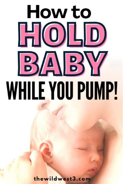 how to hold baby while pumping pin image