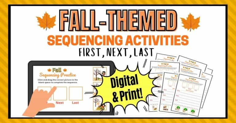 Story Sequencing Activities With Pictures For The Fall Season
