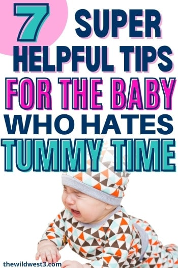 crying baby who hates tummy time