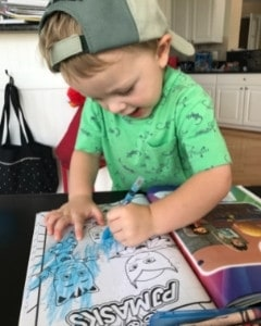 toddler coloring activity